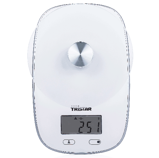 Tristar, Kitchen Scale, Plate With Safety Glass, Maximum Capacity 5 Kg    KW 2445   Small Appliances   Electronics | HiCart.com