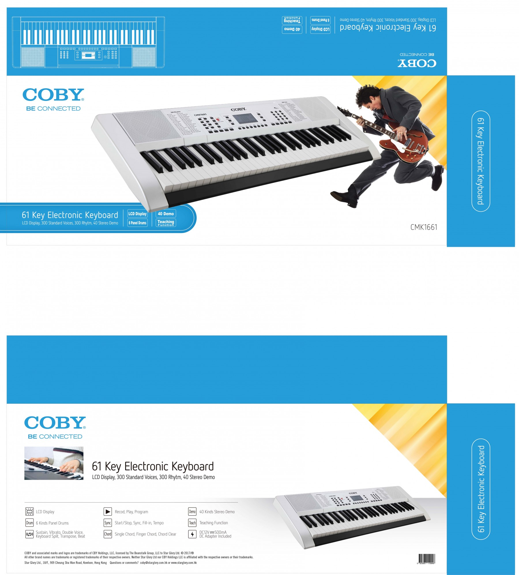 Coby Keyboard Electronic Piano Portable 61 Key - CMK1661 Regular Price:  $111 Special Price: $92 17% off - + Buy Now