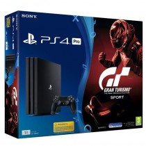 Sony, Playstation 4 Pro, 1 TB, Black With Grand Tursmo Sport