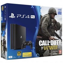 Sony, Playstation 4 Pro, 1 TB, Black With COD WW  II