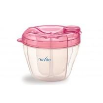 Nuvita - PINK MILK POWDER CONTAINER AND DISPENSER