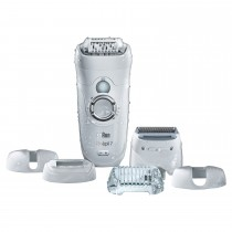 Braun Silk Epil Women's Wet and Dry Cordless Epilator Electric Hair Removal with 6 Extra Attachments - 186867