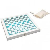 Jeux Cultes, Foldable Wooden Checkers Set