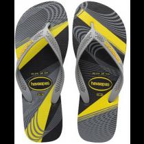 Havaianas, Aero Graphic Black Steel Gray  6328, Slippers