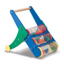 Melissa & Doug, Rattle Rumble Wooden Push Toy and Activity Walker