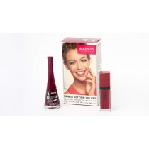 Bourjois Kit, Rouge Velvet Edition 08 Grand Cru + One Second Nail Polish No12 Rouge Obscur For Free