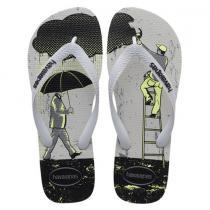Havaianas, 4 Nite Ice Gray Black 9481, Slippers