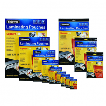 Fellowes, Laminator, Pouch, 125 Mic, A3, Pack of 100 sheets