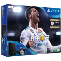 Sony PlayStation 4 1TB With plug and Two Controllers, DS4, FIFA18, PS Plus 14DAYS