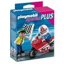 PLAYMOBIL Boys with Racing Bike Set