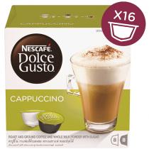 NESCAFE Dolce Gusto Cappuccino Coffee Capsules (16 Capsules, 8 Cups)