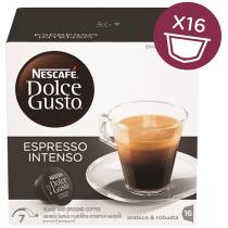 NESCAFE Dolce Gusto Espresso Intenso Coffee Capsules (16 Capsules, 16 Cups)