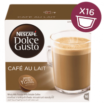 NESCAFE Dolce Gusto Cafe Au Lait Coffee Capsules (16 Capsules, 16 Cups)