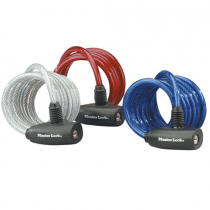 Master Lock, Key Coiling Cable, Assorted Color