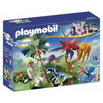 PLAYMOBIL Super 4 Lost Island with Alien and Raptor Building Kit