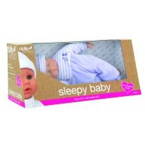 Dolls World, Sleepy Baby 30cm with Romper, Blue