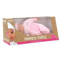 Dolls World, Sleepy Baby 30cm with Romper, Pink