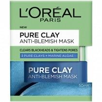 L'OREAL PARIS, Pure Clay Anti-Blemish Mask: Marine Algae 50 mL
