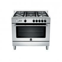 La Germania Cooker, Cast Iron Grids, full inner glass door Stainless