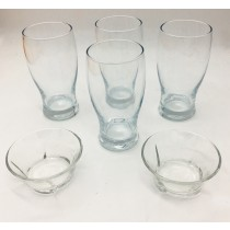 LAV, Set of 4 Beer Glasses with 2 Bowls