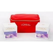 L'Oreal Paris Age Collagen Gift Set,Age Collagen Day Cream 50 ml+Age Collagen Night Cream 50 ml+Trendy Pouch