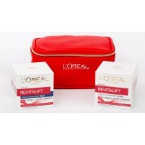 L'Oreal Paris Revitalift Gift Set, Revitalift Day 50ml+Revitalift Night 50ml+Trendy Pouch