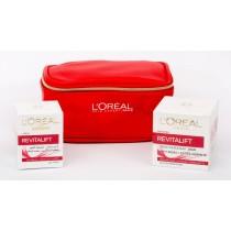 L'Oreal Paris Revitalift Gift Set , Revitalift Day 50 ml + Revitalift Eye 15 ml + Trendy Pouch