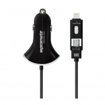 Promate Booster-Duo 4800mA Ultra-Fast Car Charger, Black