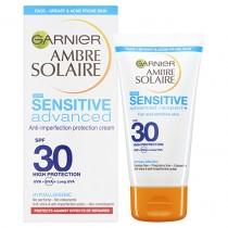 Garnier Ambre Solaire Sensitive Advanced Anti-Imperfections Face Sun Cream SPF30 50ml