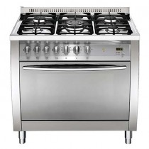 Lofra Cooker, 4 Burners, 90 Liters, Silver - CG96G2VG/Ci