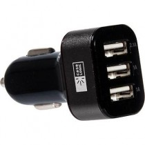 Case Logic CL-OP-V4-004-BK 4.1AMP 3-Port Car Charger, Black