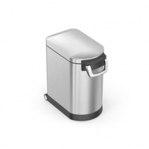 simplehuman, Medium Pet Food Bin, Fingerprint Proof, Brushed Steel, 25L