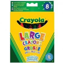 Crayola, Large Washable Wax Crayons, 8 Pieces