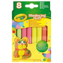 Crayola, Pate A Modeler, 8 Fluo Sticks