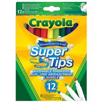 Crayola, Supertips Washable, 12 Pieces