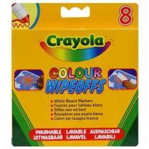 Crayola, Rainbow Color Wipeoff Pens, 8 Pieces