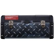 Stack-On, DXG221 55.8 cm Deluxe Professional SteelPlastic Tool Box, Galvanized Steel Tread, Black