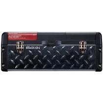 Stack-On, DXG261 66 cm Professional Steel Plastic Tool Box, Galvanized Steel Tread Plate, Black