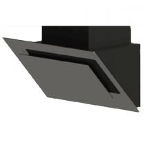 Midea Extractor Hood, Black - E90TEW2J82