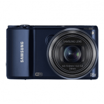 """Samsung WB250F 14.2MP CMOS Smart WiFi Digital Camera with 18x Optical Zoom, 3.0"""" Touch Screen LCD and 1080p HD Video (Cobalt Black)"""