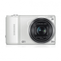 """Samsung WB250F 14.2MP CMOS Smart WiFi Digital Camera with 18x Optical Zoom, 3.0"""" Touch Screen LCD and 1080p HD Video (White)"""