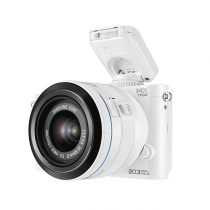 Samsung NX1100 Smart Wi-Fi Digital Camera Body & 20-50mm Lens, White