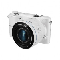 """Samsung NX2000 20.3MP CMOS Smart WiFi Mirrorless Digital Camera with 20-50mm Lens and 3.7"""" Touch Screen LCD (White)"""