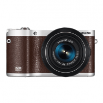 """Samsung NX300 20.3MP CMOS Smart WiFi Mirrorless Digital Camera with 18-55mm Lens and 3.3"""" AMOLED Touch Screen (Brown)"""