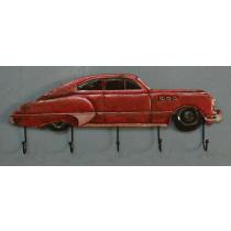 Itemz, 3D MetalWall Hanger Retro Red Car, L23cmxW60cm