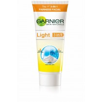 Garnier Skin Naturals Light 3-In-1 Light Facial Scrub, Mask And Wash For Fairness 100ml