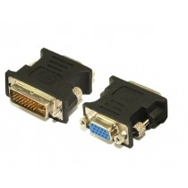 Top Converter VGA to DVI Male to Female Adapter Gold Plated for Gaming, DVD, Laptop, HDTV, Projector - G167C