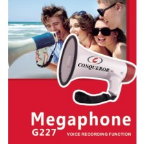 Conqueror Megaphone Speaker 25W with Adjustable Volume & Voice Recording - G227
