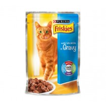 Friskies, Cat Salmon Pouch 100g, Pack of 6