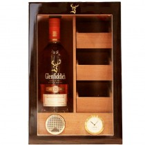 Glenfiddich, Single Malt Scotch Whiskey, 21 Years Old and Premium Cigar Humidor